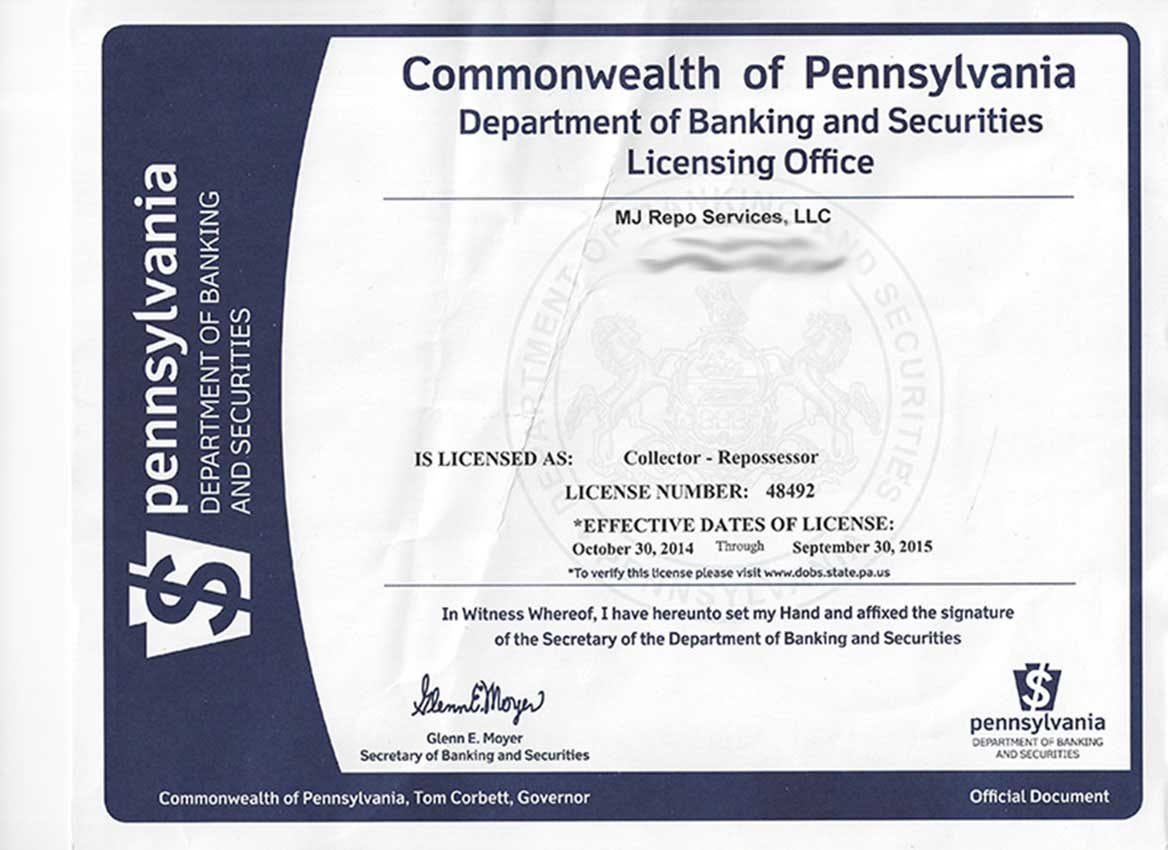 PA State License